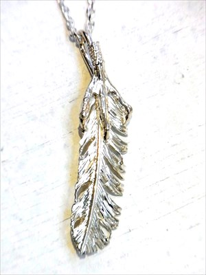【受注】【Garden of Eden】イーグルクロー×フェザー/左 GM16-NK09(50cm)(EAGLE CLAW FEATHER Necklace/ペンダント/Pendant/Indian jewelry/Antique/Vintage)