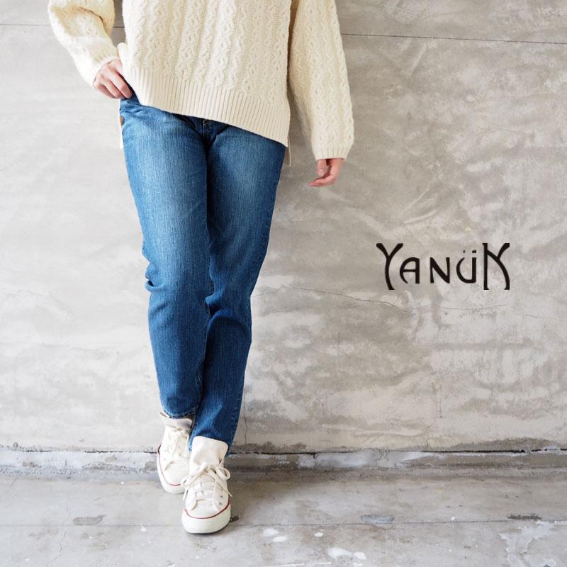 YANUK ヤヌーク デニム パンツ レディース slim tapered RUTH 57101061 デニムパンツ ジーパン ジーンズ テーパードパンツ テーパードデニム シンプル カジュアル おしゃれ 美脚 日本製
