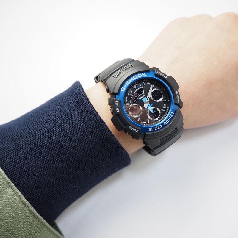 CASIO カシオ G-SHOCK ジーショック ベーシックモデル BASIC 腕時計 AW-591-2AJF レディース 防水 耐衝撃 ショックレジスト ワールドタイム LEDライト ストップウォッチ タイマー