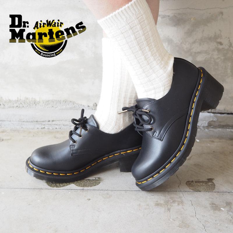 Dr.Martens ドクターマーチン シューズ レディース AMORY 25437001 レースアップシューズ 靴 レースアップ 春 シンプル マーチン おしゃれ モード ブランド レザー 革 チャンキーヒール ブラック 黒 3ホール