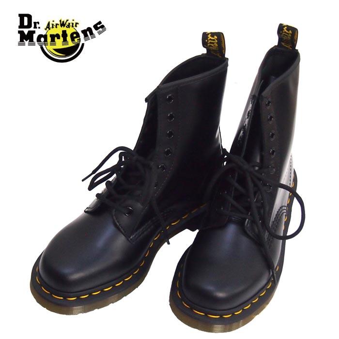 Dr.Martens ドクターマーチン DR.M-1460Z DMS59 8ホールブーツ 10072004 ショートブーツ ブーツ レディース 8ホール 黒 本革 定番 編み上げ 大きいサイズ レースアップ ブラック レザー