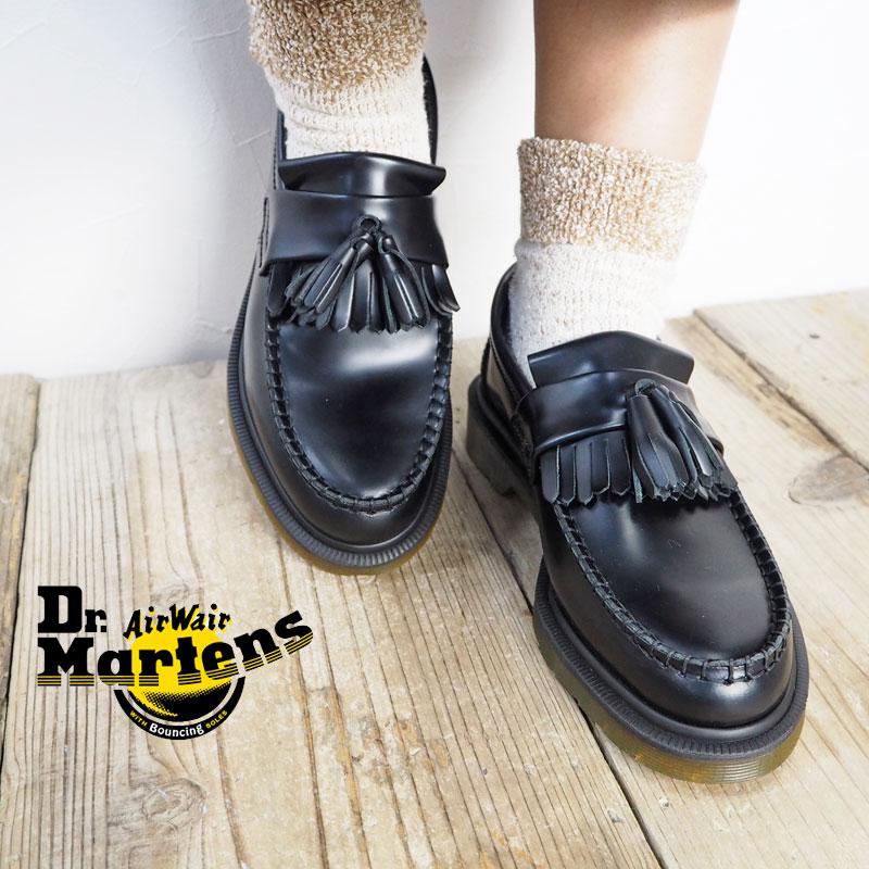 Dr.Martens ドクターマーチン ADRIAN SLIP ON タッセルローファー 14573001 靴 シューズ ローファー エイドリアン 革靴 レザーシューズ マーチン 本革 キルトタッセル スリッポン ブラック レディース 正規品