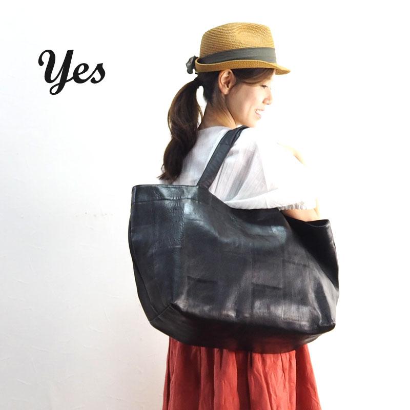yes イエス スキツギトートL SPT-L トートバッグ トート バッグ 鞄 かばん レディース 肩掛け 手持ち 大きめ レザー 本革 革 黒 ブラック シンプル 旅行 カジュアル フォーマル 通勤 通学 通勤バッグ 通勤かばん 通勤カバン ビジネス メンズ