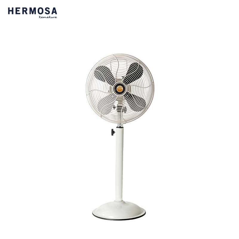 HERMOSA ハモサ レトラファンフロア 扇風機 RF-0219 サーキュレーター レトロファン レトロ ビンテージ ヴィンテージ感 夏 家電 おしゃれ アイボリー サックス シルバー