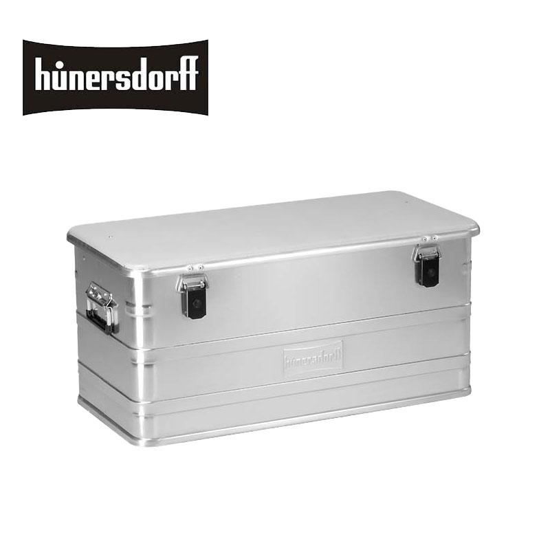 hunersdorff ヒューナースドルフ Metal Profi Box 91L 452300 メタル プロフィーボックス 91L プロフィー キャンプ ボックス ドイツ製 アウトドア ケース チェスト 収納 収納ボックス ギア 道具箱 道具入れ ふた付き 蓋付き キャンパー アルミ