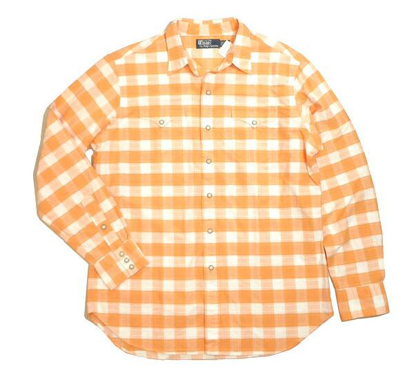 fd135ccce161 Categories. « All Categories · Men's Clothing · Tops · Casual Shirts · RALPH  LAUREN shirts Ralph Lauren checked shirt Western shirt long sleeve ...