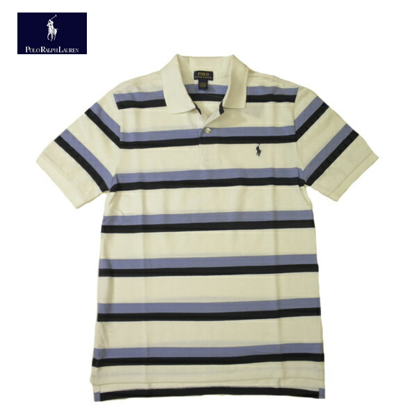 e78992c86b8d Ralph Lauren boys border polo shirt short-sleeved BOY S RALPH LAUREN logo  embroidered white   Navy   Blue boys L size men S size equivalent to  02P29Jul16