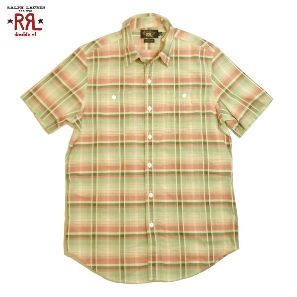 RRLシャツダブルアールエル半袖シャツチェックシャツショートスリーブラルフローレン大きいサイズXLビッグサイズあり【あす楽対応】02P02Mar14