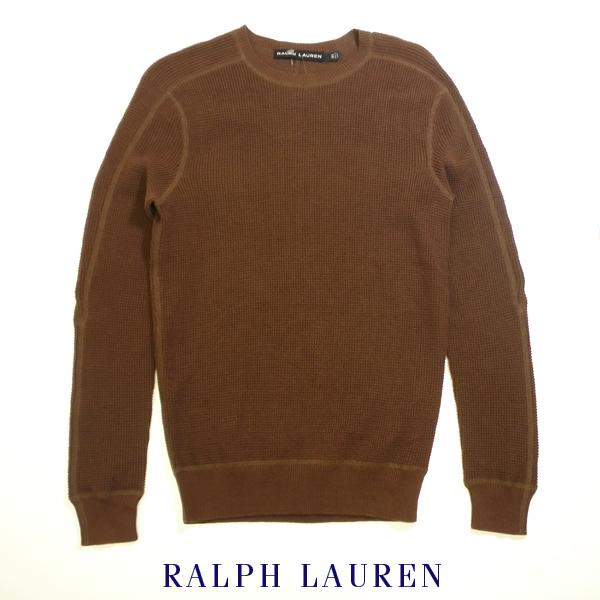 ラルフローレン ブラックレーベル カシミアブレンドコットンサーマルニットセーター Ralph Lauren Black Label アウトレット品 ブラウン メンズ XSサイズ 送料無料 送料込み
