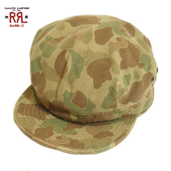 RRL 迷彩キャスケット ダブルアール ラルフローレン ワークキャップ メイサイ 帽子 メンズ Lサイズ 送料込み 送料無料