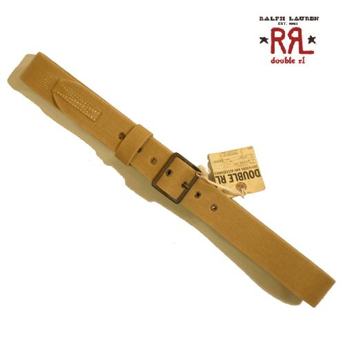 RRLベルトダブルアールエルミリタリーベルトコットン&レザーコンビビンテージ加工アウトレット品メンズ小さいサイズ28インチあり大きいサイズ40インチビッグサイズあり02P【送料無料】【送料込み】