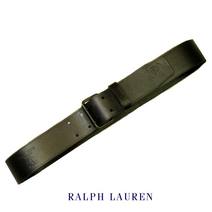 ラルフローレンレザーベルトRalph Laurenロゴ型押しビンテージ革ベルトビンテージブラックメンズ34インチ02P27Aug18【送料無料】【送料込み】