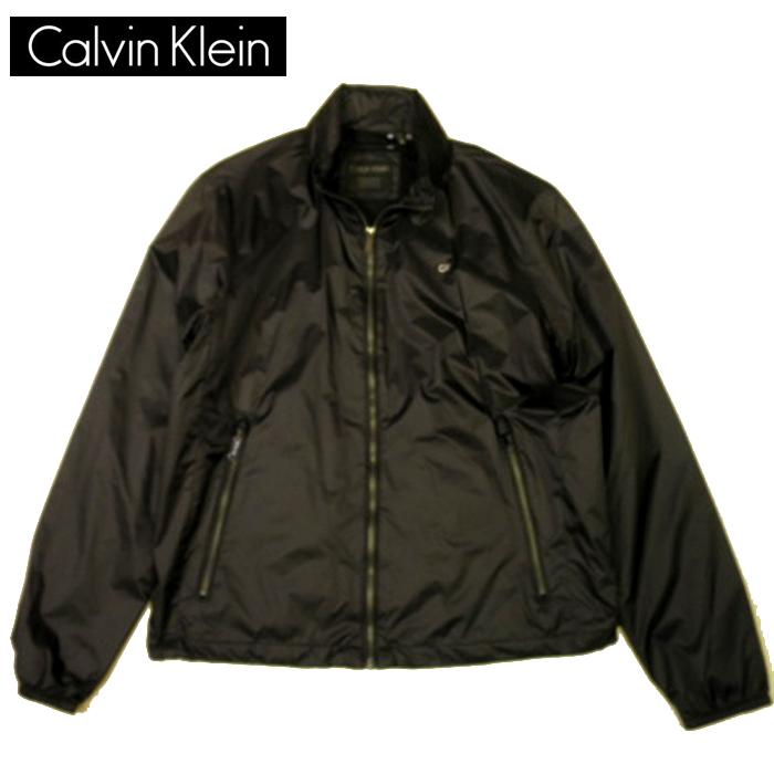 カルバンクライン ジャケット ワンポイントロゴナイロンブルゾン calvin klein ジャンパー 襟フード収納 パーカー ブラック メンズ SサイズMサイズ 送料無料 送料込み