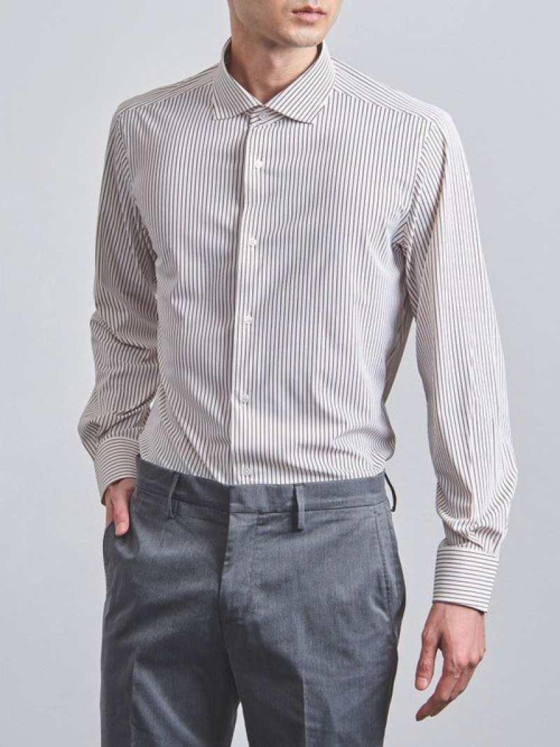 [Rakuten Fashion]<SOVEREIGN(ソブリン)>ペンシルストライプ1PC/WD UNITED ARROWS ユナイテッドアローズ シャツ/ブラウス ワイシャツ ブラウン【送料無料】