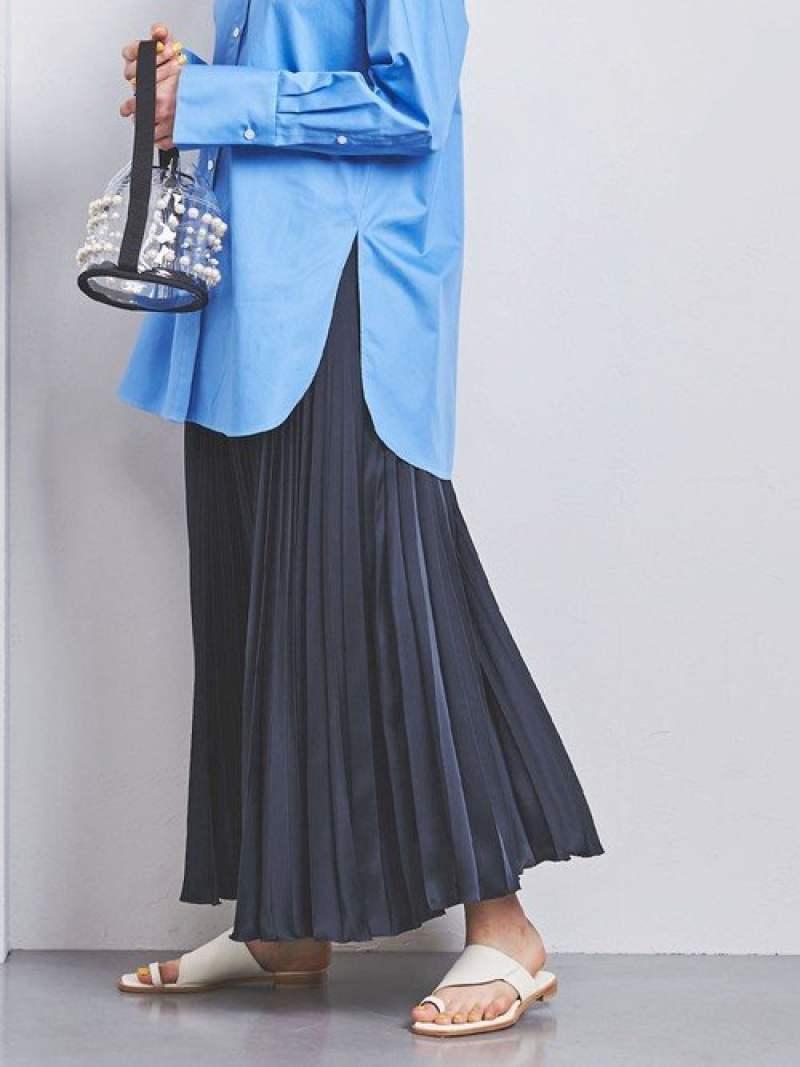 [Rakuten Fashion]【SALE/50%OFF】UWCSアコーディオンプリーツスカート2 UNITED ARROWS ユナイテッドアローズ スカート ロングスカート ホワイト ブラウン ブルー ネイビー【RBA_E】【送料無料】