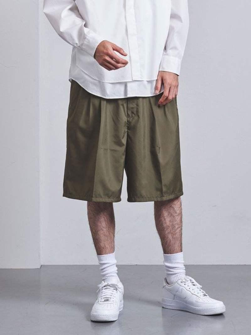 [Rakuten Fashion]<ENROUTE(アンルート)>ポリエステルタフタ3プリーツバックゴムワイドショーツ EN ROUTE ユナイテッドアローズ パンツ/ジーンズ ショートパンツ カーキ ブラック【送料無料】