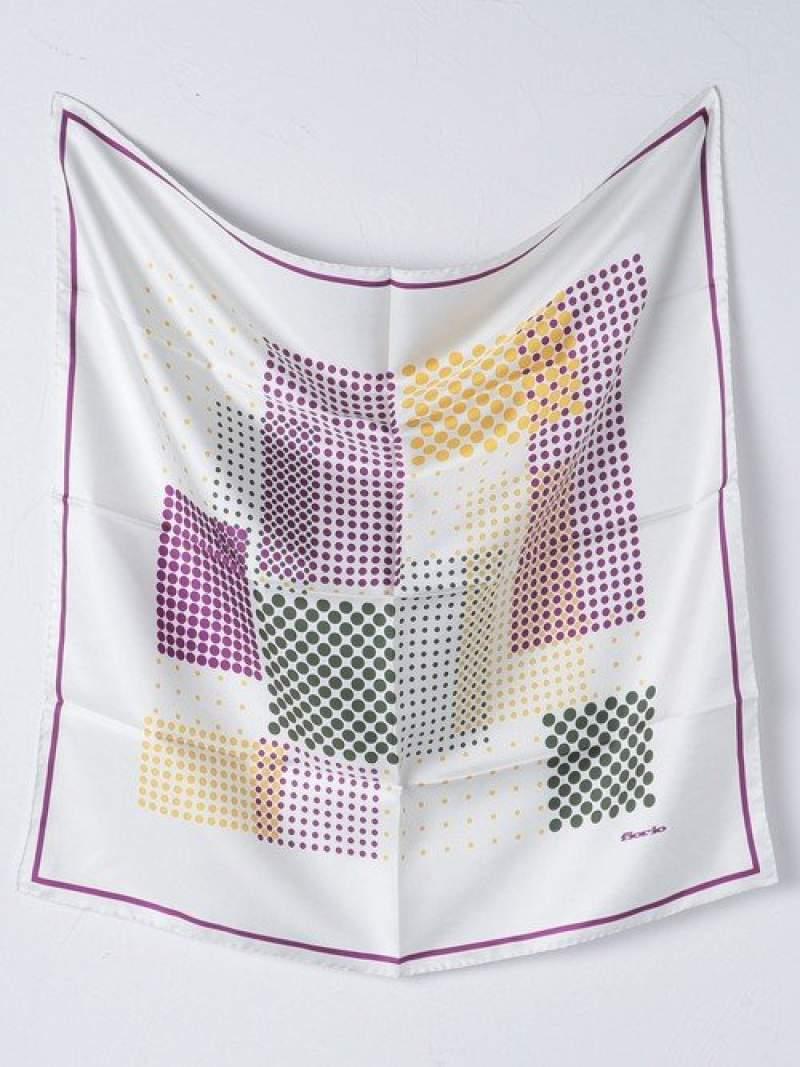 [Rakuten Fashion]<Fiorio(フィオリオ)>シルク ランダムドット スカーフ UNITED ARROWS ユナイテッドアローズ ファッショングッズ スカーフ/バンダナ ホワイト ネイビー【送料無料】
