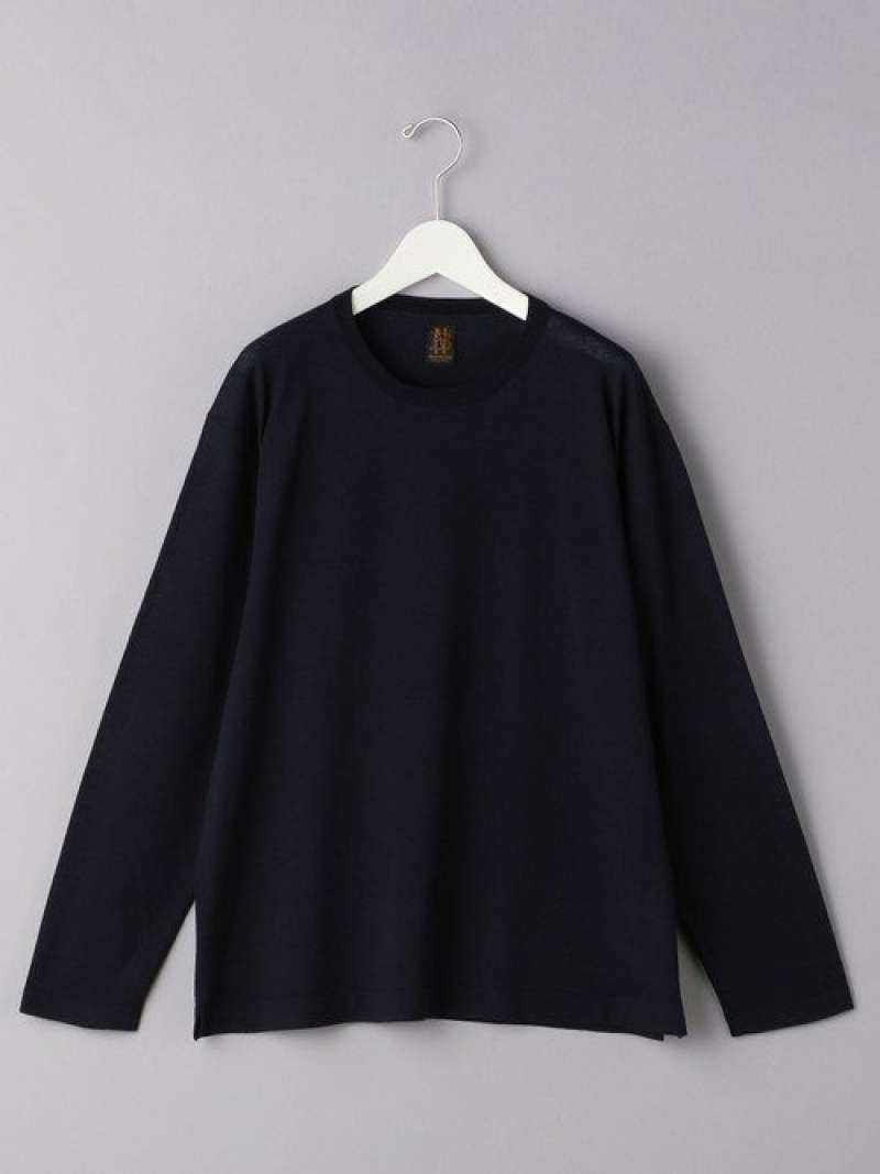 [Rakuten Fashion]<BATONER(バトナー)>4SEASONSクルーネックニット UNITED ARROWS ユナイテッドアローズ ニット 長袖ニット ネイビー ブラック ブルー【送料無料】