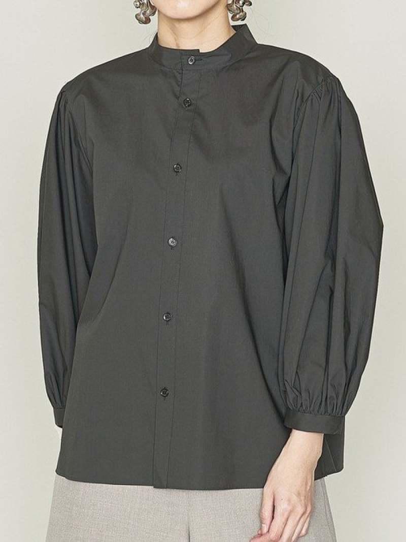 [Rakuten Fashion]<ASTRAET(アストラット)>スタンドパフスリーブブラウス ASTRAET ユナイテッドアローズ シャツ/ブラウス シャツ/ブラウスその他 ブラック ホワイト【送料無料】