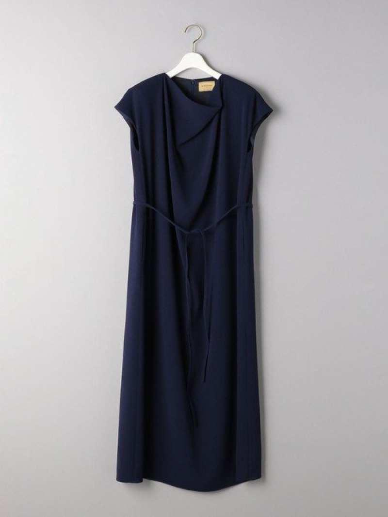[Rakuten Fashion]【SALE/40%OFF】UGCBドレープリボンワンピース UNITED ARROWS ユナイテッドアローズ ワンピース シャツワンピース ネイビー ブルー【RBA_E】【送料無料】