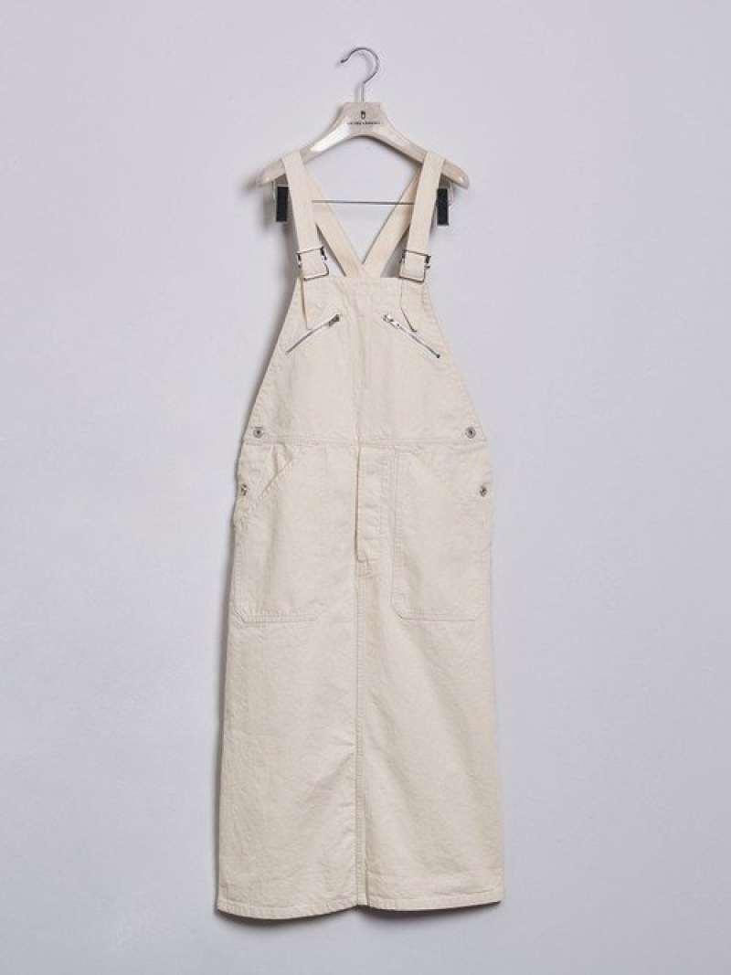 [Rakuten Fashion]<DANTON(ダントン)>オーバーオールスカート† UNITED ARROWS ユナイテッドアローズ ワンピース ワンピースその他 ホワイト ブラック【送料無料】