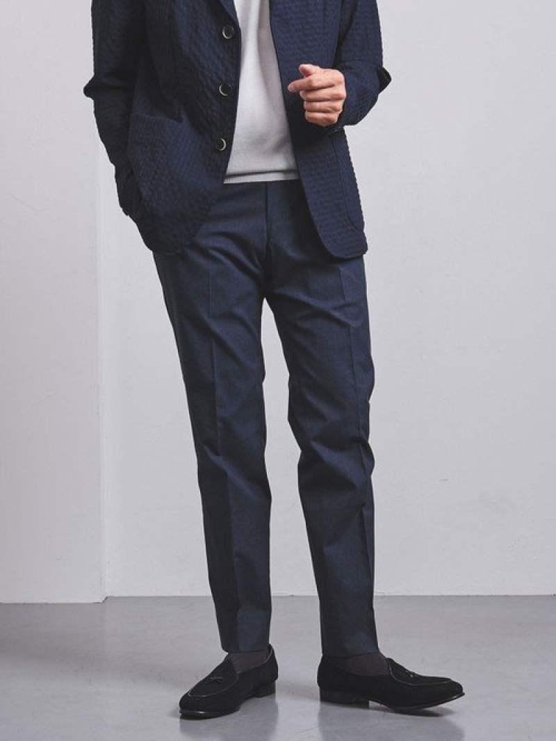 [Rakuten Fashion]【WEB限定】<UNITEDARROWS>CTNメランジノープリーツテーパード UNITED ARROWS ユナイテッドアローズ パンツ/ジーンズ スラックス/ドレスパンツ ネイビー グレー【送料無料】