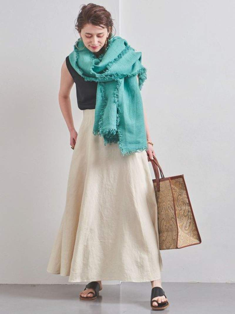 [Rakuten Fashion]UWCSリネンマキシスカートWHITE UNITED ARROWS ユナイテッドアローズ スカート ロングスカート ホワイト【送料無料】