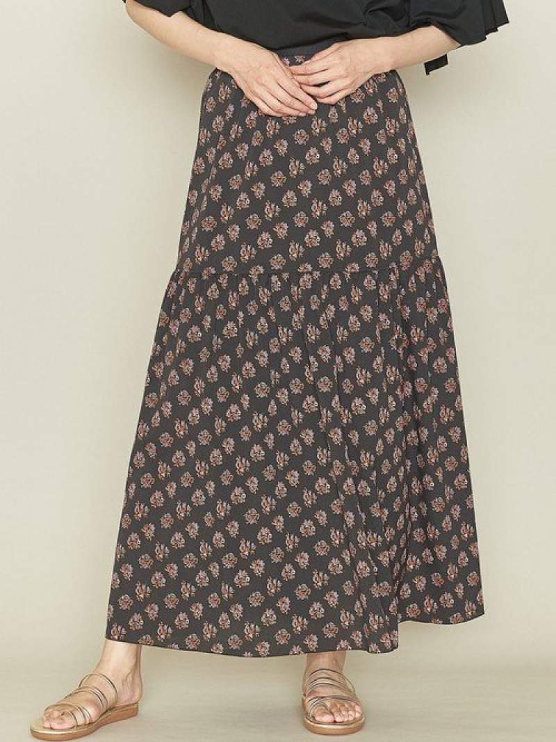 [Rakuten Fashion]<ASTRAET(アストラット)>コモンギャザーフレアスカート† ASTRAET ユナイテッドアローズ スカート ロングスカート ブラック【送料無料】