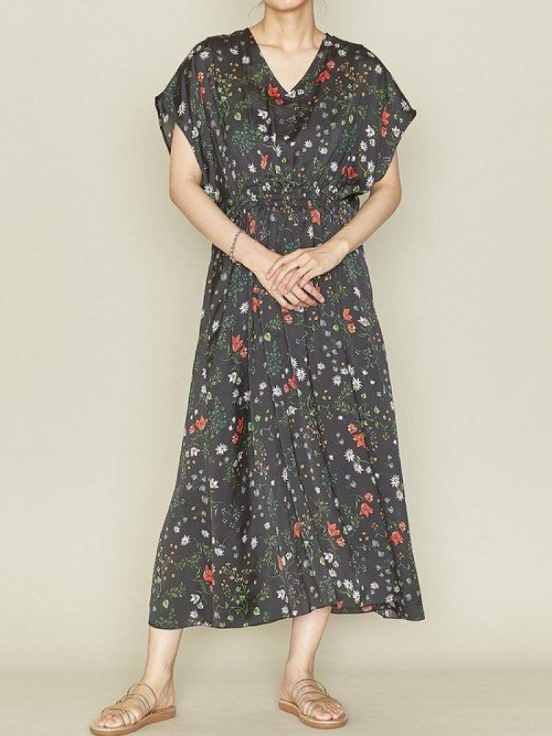 [Rakuten Fashion]<ASTRAET(アストラット)>フラワーウエストシャーリングワンピース† ASTRAET ユナイテッドアローズ ワンピース ノースリーブワンピース ブラック【送料無料】