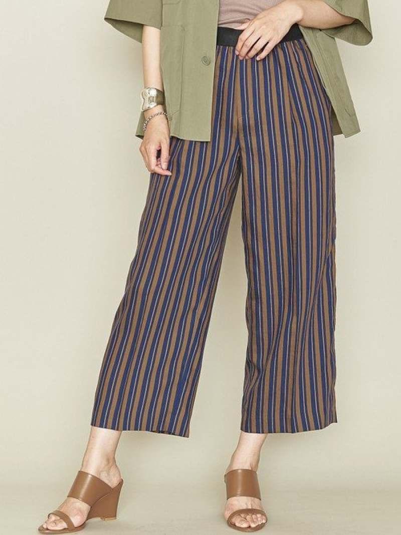 [Rakuten Fashion]<ASTRAET(アストラット)>ウエストゴムストライプワイドパンツ ASTRAET ユナイテッドアローズ パンツ/ジーンズ ワイド/バギーパンツ ブラウン【送料無料】
