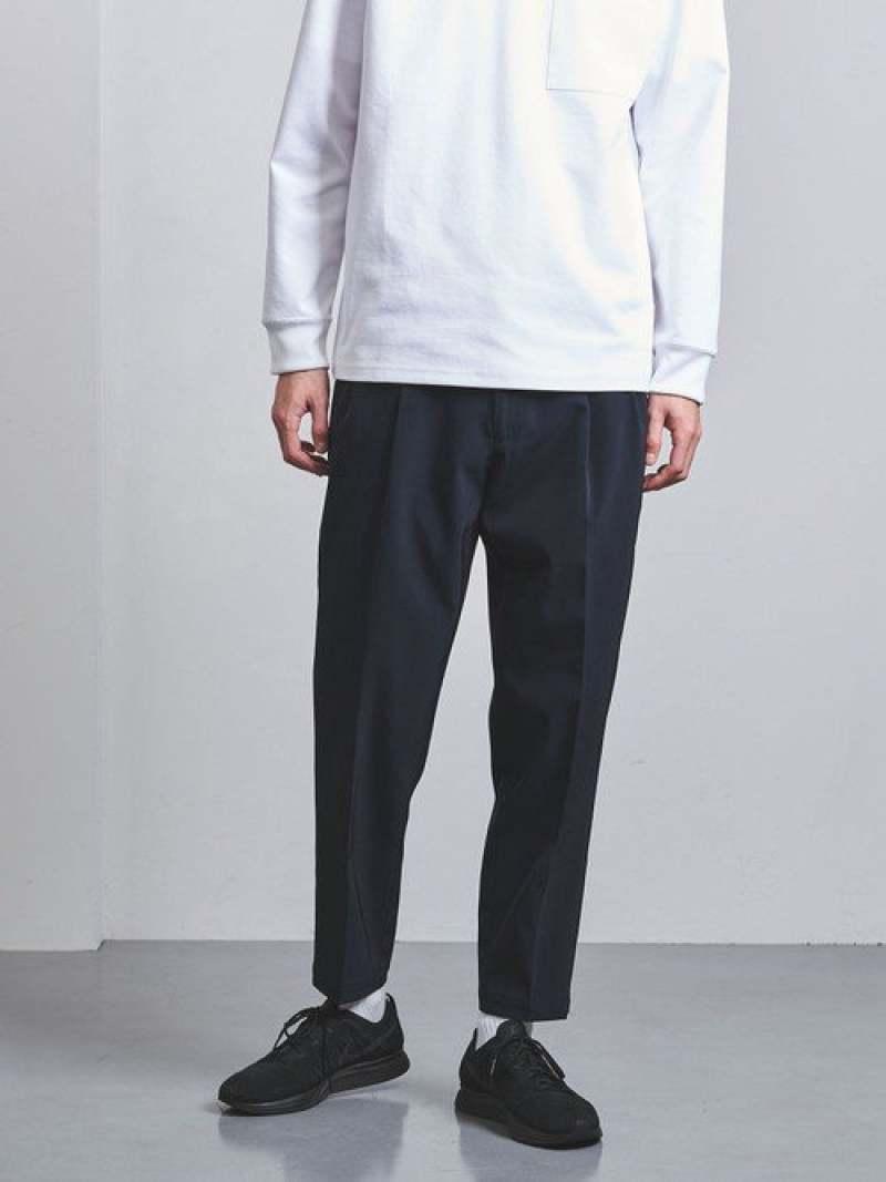 [Rakuten Fashion]<ENROUTE(アンルート)>ナイロンツイル2プリーツバックゴム EN ROUTE ユナイテッドアローズ パンツ/ジーンズ フルレングス ネイビー ブラック【送料無料】