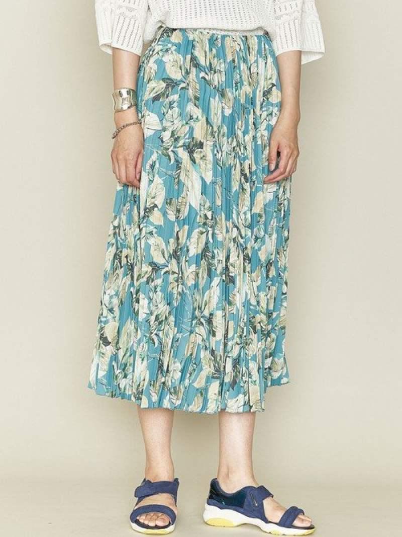 [Rakuten Fashion]<ASTRAET(アストラット)>リーフプリントロングプリーツスカート ASTRAET ユナイテッドアローズ スカート ロングスカート ブルー【送料無料】
