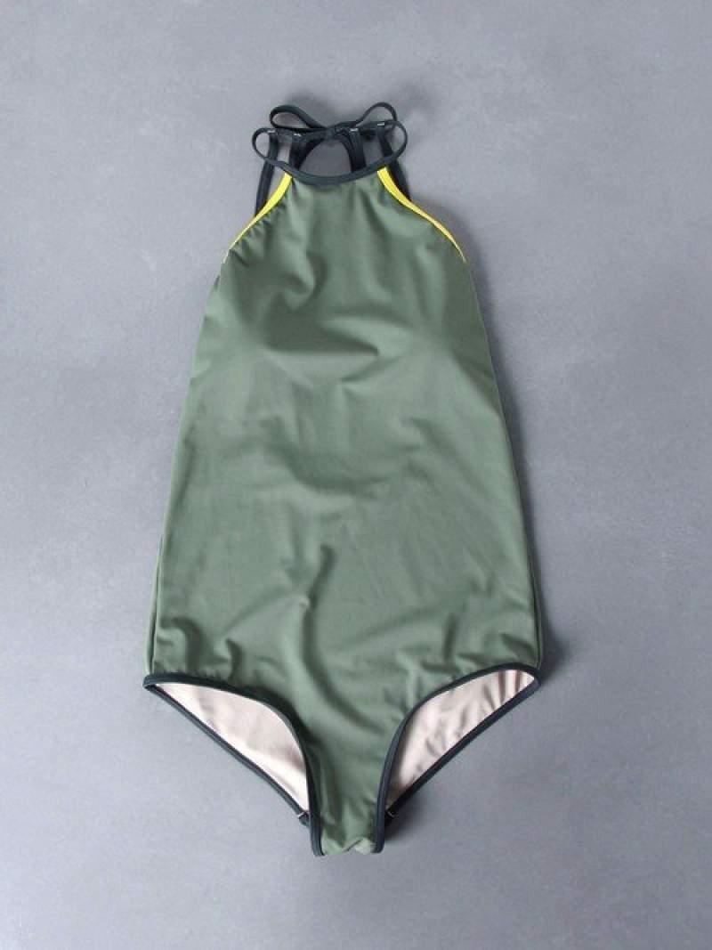 [Rakuten Fashion]【別注】<Lepidos(レピドス)>TRIMワンピース UNITED ARROWS ユナイテッドアローズ スポーツ/水着 水着 グリーン ブラック【送料無料】