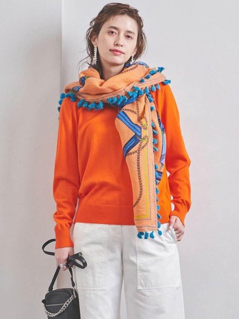 [Rakuten Fashion]UWSCベーシッククルーネックニット UNITED ARROWS ユナイテッドアローズ ニット 長袖ニット オレンジ ホワイト ネイビー【送料無料】