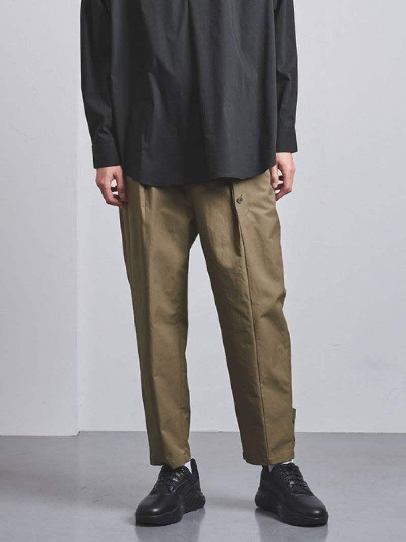 [Rakuten Fashion]<ENROUTE(アンルート)>コットンナイロンアシンメトリーヘムボタン1プリーツ EN ROUTE ユナイテッドアローズ パンツ/ジーンズ フルレングス カーキ ブラック【送料無料】