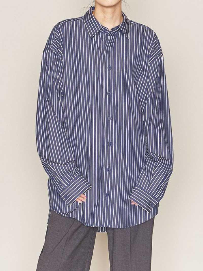 [Rakuten Fashion]【SALE/40%OFF】ASTRAET(アストラット)ストライプビッグシャツ ASTRAET ユナイテッドアローズ シャツ/ブラウス シャツ/ブラウスその他 ネイビー ホワイト【RBA_E】【送料無料】