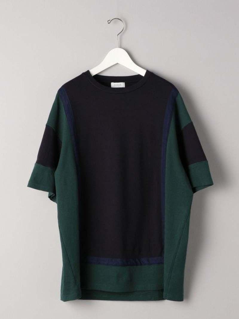 [Rakuten Fashion]<ENROUTE(アンルート)>コットンブロックパターンコンビテープクルーネック EN ROUTE ユナイテッドアローズ カットソー Tシャツ【送料無料】