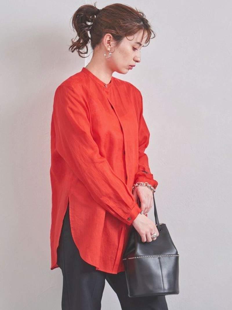 [Rakuten Fashion]UWSCラミーチュニックシャツ† UNITED ARROWS ユナイテッドアローズ シャツ/ブラウス 長袖シャツ レッド ホワイト ブラウン ネイビー【送料無料】