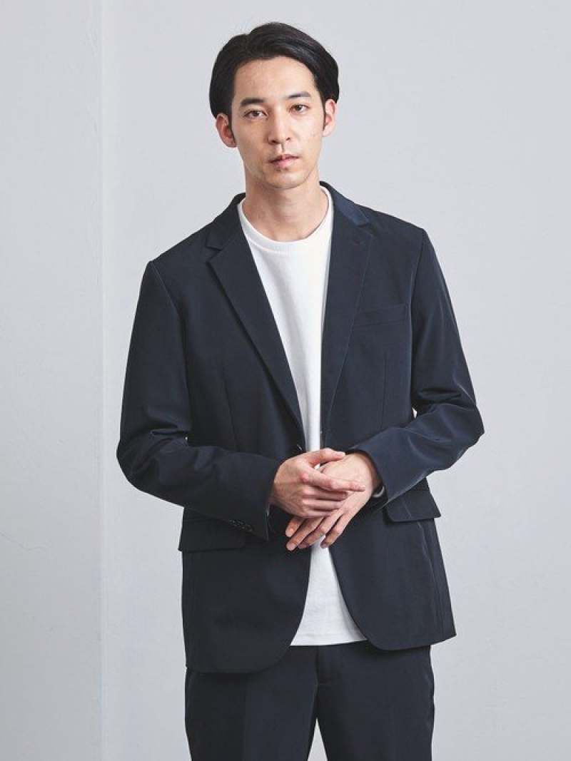 [Rakuten Fashion]<ENROUTE(アンルート)>ナイロンポリウレタンツイル2B EN ROUTE ユナイテッドアローズ コート/ジャケット テーラードジャケット ネイビー ブラック【送料無料】