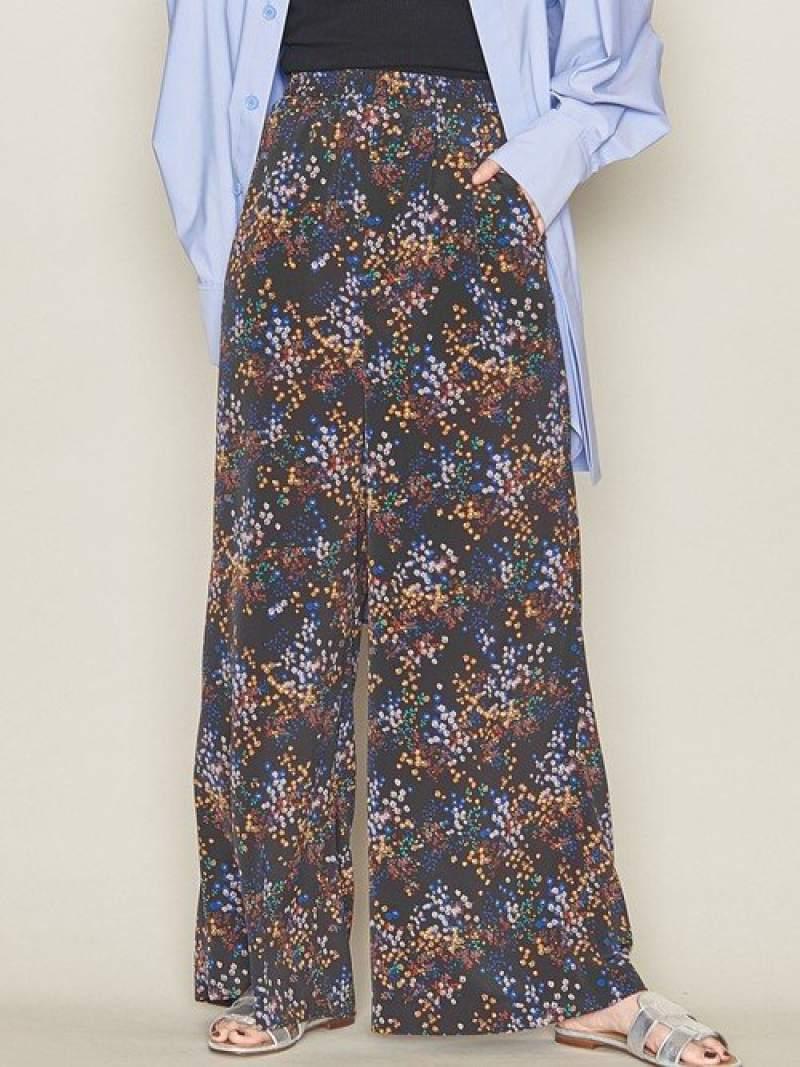 [Rakuten Fashion]【SALE/30%OFF】<ASTRAET(アストラット)>フラワープリントイージーワイドパンツ ASTRAET ユナイテッドアローズ パンツ/ジーンズ フルレングス ネイビー ブラウン【RBA_E】【送料無料】