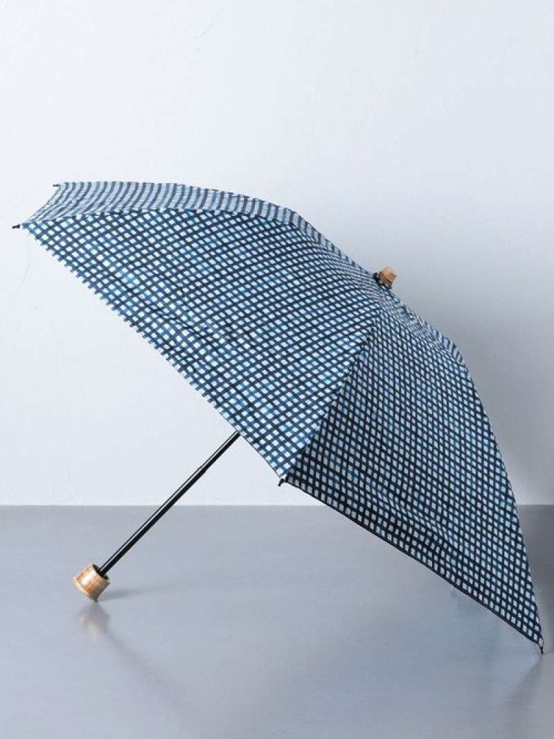 [Rakuten Fashion]UBSCGGMMINI晴雨兼用折りたたみ傘 UNITED ARROWS ユナイテッドアローズ ファッショングッズ 日傘/折りたたみ傘 ネイビー ベージュ【送料無料】