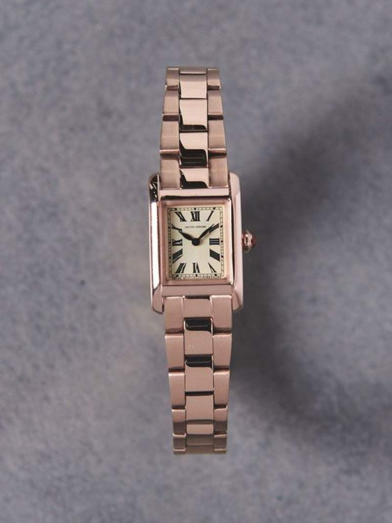 [Rakuten Fashion]UAB スクエア メタル 腕時計 UNITED ARROWS ユナイテッドアローズ ファッショングッズ 腕時計 ピンク ゴールド シルバー【送料無料】