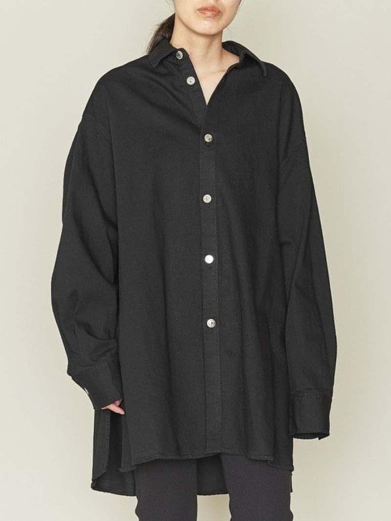 [Rakuten Fashion]【SALE/50%OFF】<ASTRAET(アストラット)>デニムビッグシャツ ASTRAET ユナイテッドアローズ シャツ/ブラウス 長袖シャツ ブラック グレー【RBA_E】【送料無料】