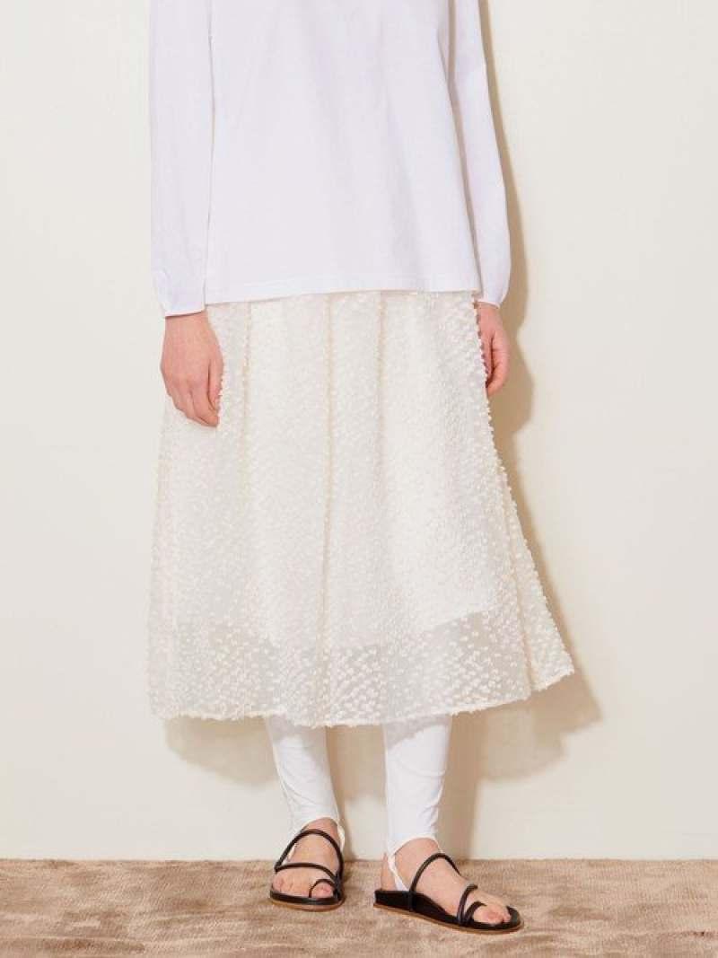 [Rakuten Fashion]<AEWENMATOPH(イウエンマトフ)>ドットジャカードスカート AEWEN MATOPH ユナイテッドアローズ スカート ロングスカート ホワイト ブラック【送料無料】
