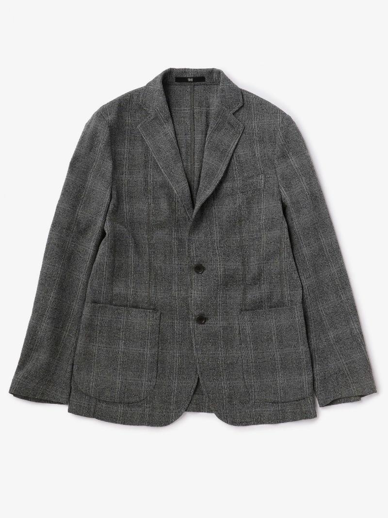 Fashion BAS ブークレ チェック 2B ジャケット UNITED ARROWS ユナイテッドアローズ コート ジャケット テーラードジャケット グレー ネイビー 送料無料fYmb67gIyv