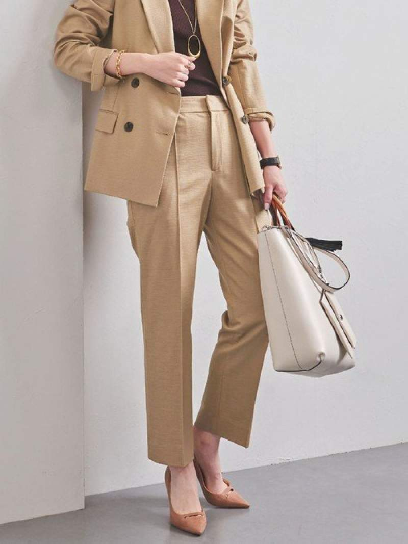 [Rakuten Fashion]UBCBRAMIEスリムパンツ UNITED ARROWS ユナイテッドアローズ パンツ/ジーンズ クロップド/半端丈パンツ ベージュ ネイビー【送料無料】