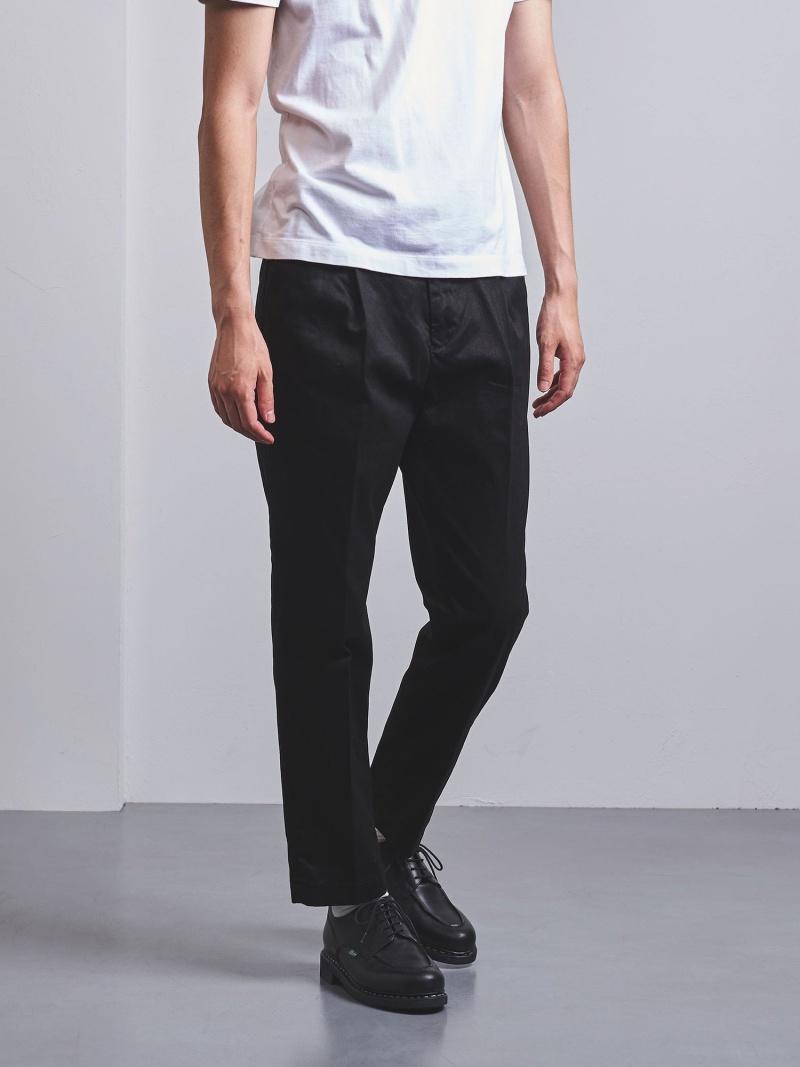 [Rakuten Fashion]<District(ディストリクト)>1プリーツチノパンツ UNITED ARROWS ユナイテッドアローズ パンツ/ジーンズ フルレングス ブラック ベージュ カーキ【送料無料】