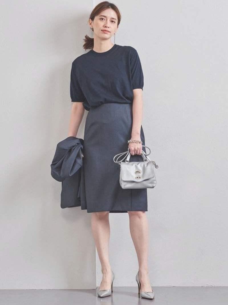[Rakuten Fashion]【SALE/40%OFF】UPCBCANONICOタイトスカート UNITED ARROWS ユナイテッドアローズ スカート タイトスカート ネイビー グレー【RBA_E】【送料無料】