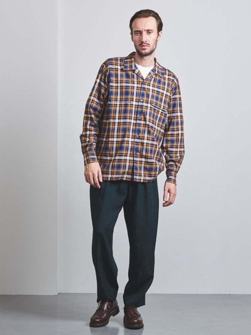 [Rakuten Fashion]<District(ディストリクト)>リラックスオープンカラー UNITED ARROWS ユナイテッドアローズ シャツ/ブラウス 長袖シャツ ネイビー ベージュ【送料無料】