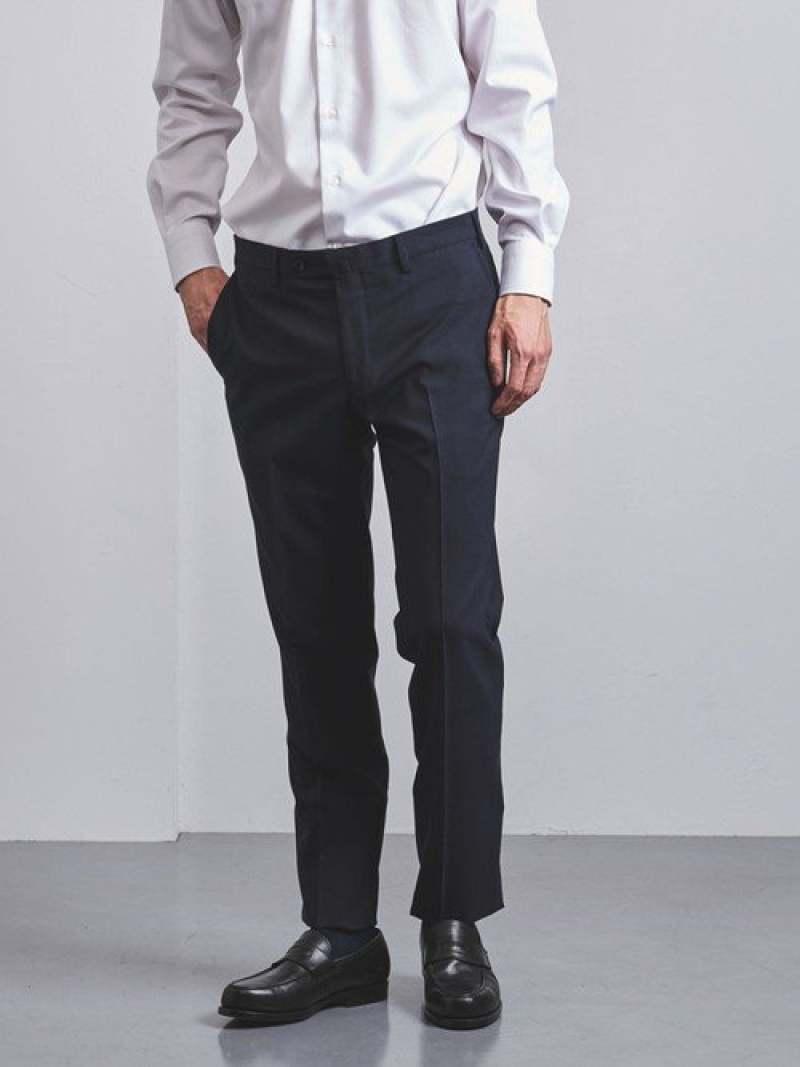 [Rakuten Fashion]<SOVEREIGN(ソブリン)>トロピカルウールノープリーツテーパード UNITED ARROWS ユナイテッドアローズ パンツ/ジーンズ フルレングス ネイビー グレー【送料無料】